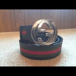 7caab1d0b Gucci Accessories - Stitched Red   Green Gucci Belt 100% Authentic